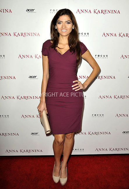 WWW.ACEPIXS.COM....November 14, 2012, Los Angeles, CA.....Blanca Blanco arriving at the premiere of 'Anna Karenina' at ArcLight Hollywood on November 14, 2012 in Hollywood, California...........By Line: Peter West/ACE Pictures....ACE Pictures, Inc..Tel: 646 769 0430..Email: info@acepixs.com