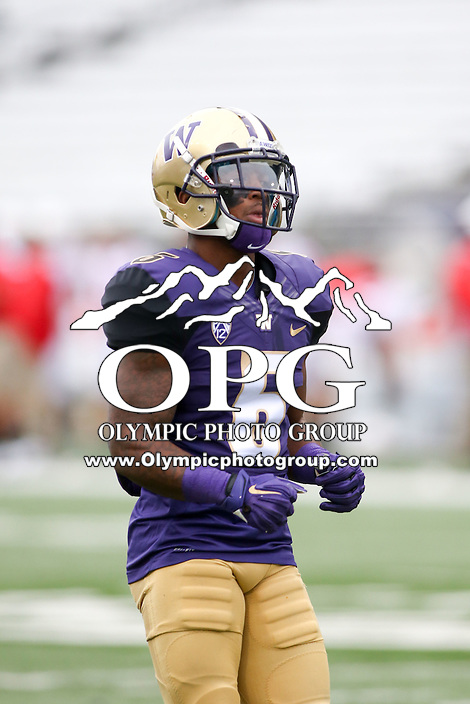 03 September 2016: Washington's Chico McClatcher against Rutgers.  Washington defeated Rutgers 48-13 at the University of Washington in Seattle, WA.