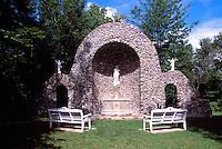 Caraquet, NB, New Brunswick, Canada - Monument to Our Lady of the Assumption / Sainte-Anne-du-Bocage Shrine, a Catholic Sanctuary