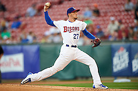 Buffalo Bisons starting pitcher Casey Lawrence (27) during a game against the Lehigh Valley IronPigs on August 29, 2016 at Coca-Cola Field in Buffalo, New York.  Buffalo defeated Lehigh Valley 3-2.  (Mike Janes/Four Seam Images)