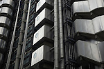 Architectural detail, Lloyds Building, City of London financial district, UK