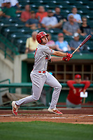 Peoria Chiefs Brady Whalen (7) at bat during a Midwest League game against the Fort Wayne TinCaps on July 17, 2019 at Parkview Field in Fort Wayne, Indiana.  Fort Wayne defeated Peoria 6-2.  (Mike Janes/Four Seam Images)