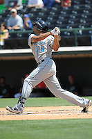 Syracuse Chiefs Justin Maxwell during a game vs. the Charlotte Knights at Knights Stadium in Fort Mill, South Carolina June 13, 2010.  Syracuse defeated Charlotte by the score of 3-2.  Photo By Tony Farlow/Four Seam Images