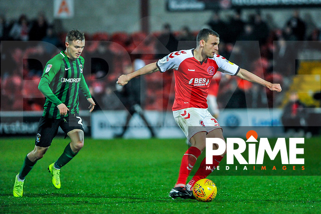 Fleetwood Town's midfielder James Wallace (38) during the Sky Bet League 1 match between Fleetwood Town and Coventry City at Highbury Stadium, Fleetwood, England on 27 November 2018. Photo by Stephen Buckley / PRiME Media Images.