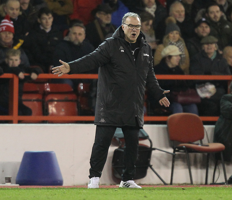 Leeds United's Marcelo Bielsa<br /> <br /> Photographer Mick Walker/CameraSport<br /> <br /> The EFL Sky Bet Championship - Nottingham Forest v Leeds United - Tuesday 1st January 2019 - The City Ground - Nottingham<br /> <br /> World Copyright © 2019 CameraSport. All rights reserved. 43 Linden Ave. Countesthorpe. Leicester. England. LE8 5PG - Tel: +44 (0) 116 277 4147 - admin@camerasport.com - www.camerasport.com