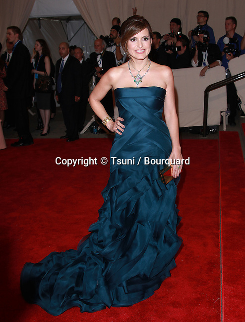 Mariska Hargitay _20   -<br /> 2010 Metropolitan Museum of Art Costume Institute Benefit &quot;American Woman: Fashioning a National Identity at the Metropolitan Museum of Art Costume Institute in New York.