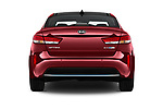 Straight rear view of a 2017 KIA Optima Plug-In Hybrid 4 Door Sedan stock images