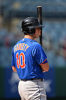 Samuel Finnerty (10) of Pelham High School in Pelham, Alabama playing for the New York Mets scout team during the East Coast Pro Showcase on August 2, 2014 at NBT Bank Stadium in Syracuse, New York.  (Mike Janes/Four Seam Images)