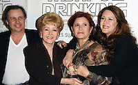 """27 December 2016 - Carrie Fisher, the iconic actress who portrayed Princess Leia in the Star Wars series, died Tuesday following a massive heart attack. Carrie Frances Fisher an American actress, screenwriter, author, producer, and speaker, was the daughter of singer Eddie Fisher and actress Debbie Reynolds. File Photo: 06 December 2010 - Hollywood, California - Todd Fisher, Debbie Reynolds, Carrie Fisher and Joely Fisher. Premiere of HBO's Documentary """"Wishful Drinking"""" based on Carrie Fisher's tale of her life held at the Linwood Dunn Theater at the Pickford Center for Motion Study. Photo Credit: Tommaso Boddi/AdMedia"""