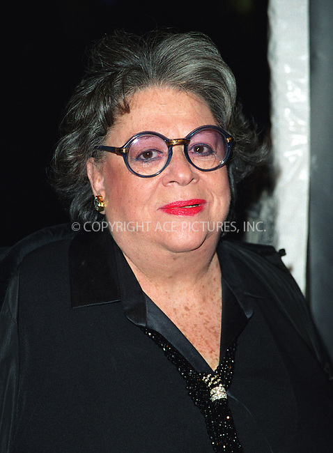 Restauranter ELAINE KAUFMAN attending the Entertainment Weekly's 8th Annual Academy Awards Viewing Party at Elaine's Restaurant in New York. March 24, 2002.  © 2002 by Alecsey Boldeskul/NY Photo Press.   ..*PAY-PER-USE*      ....NY Photo Press:  ..phone (646) 267-6913;   ..e-mail: info@nyphotopress.com