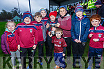 The next generation of Piarsaigh na Dromoda players have their eyes set ont he Jack Murphy Cup pictured here in Ballinskelligs on Saturday were l-r; Zoe Fitzgerald, Darragh O'Shea, Mike O'Sullivan, Aodhan Mangan, Daithí Ó Sé, Eanna Sheehan, Ryan O'Connor, Fionn O'Connell & Daragh Sheehan.