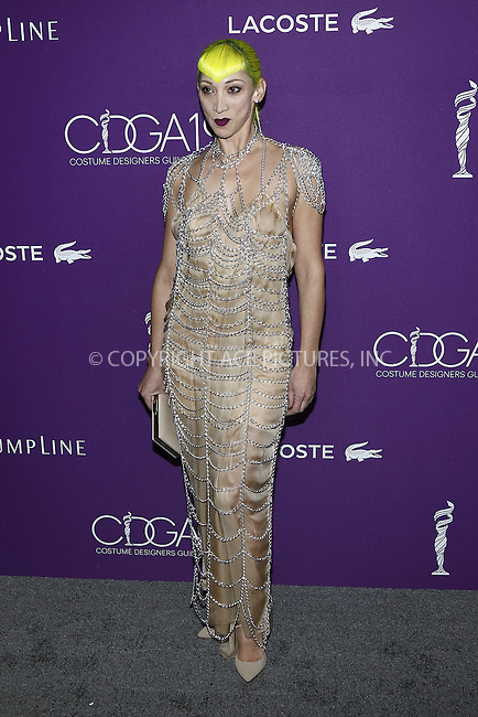 www.acepixs.com<br /> <br /> February 21 2017, LA<br /> <br /> Costume designer Ami Goodheart arriving at the 19th CDGA (Costume Designers Guild Awards) at The Beverly Hilton Hotel on February 21, 2017 in Beverly Hills, California. <br /> <br /> By Line: Famous/ACE Pictures<br /> <br /> <br /> ACE Pictures Inc<br /> Tel: 6467670430<br /> Email: info@acepixs.com<br /> www.acepixs.com