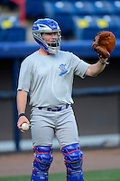 Daytona Cubs catcher Taylor Davis #34 during practice before a game against the Brevard County Manatees at Spacecoast Stadium on April 5, 2013 in Viera, Florida.  Daytona defeated Brevard County 8-0.  (Mike Janes/Four Seam Images)