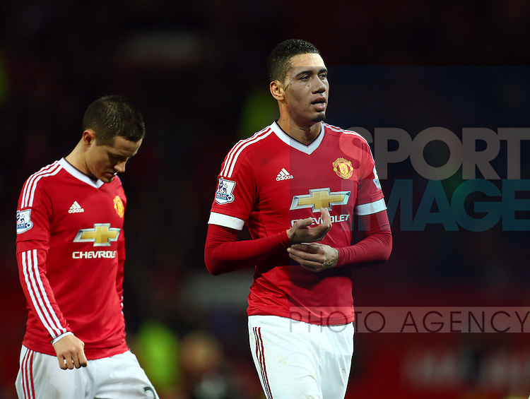 Chris Smalling of Manchester United dejected - Manchester United vs Norwich City - Barclays Premier League - Old Trafford - Manchester - 19/12/2015 Pic Philip Oldham/SportImage