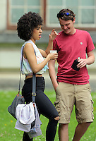 Pictured: Pearl Mackie (L) Monday 27 June 2016<br />