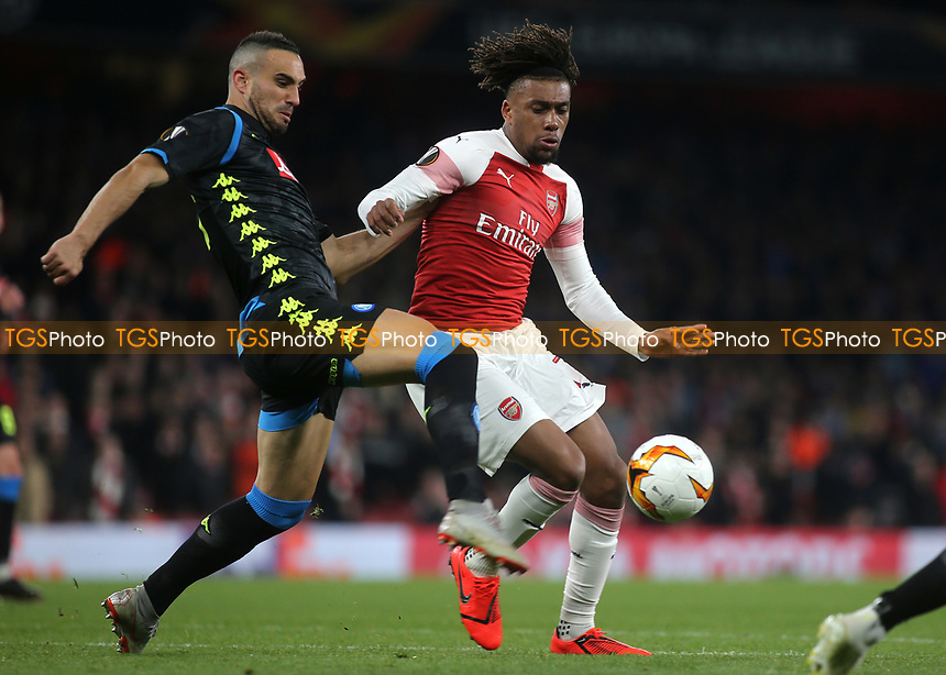 Alex Iwobi of Arsenal in action during Arsenal vs Napoli, UEFA Europa League Football at the Emirates Stadium on 11th April 2019