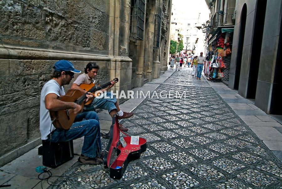 Músicos de rua em Granada. Espanha. 2008. Foto de Catherine Krulik.