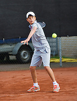 08-08-13, Netherlands, Rotterdam,  TV Victoria, Tennis, NJK 2013, National Junior Tennis Championships 2013, Christian Lerby<br /> <br /> <br /> Photo: Henk Koster