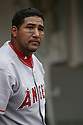Jose Molina, of the Los Angeles Angels , during their game against the Oakland A's  on April 23, 2006 in Oakland...A's win 4-3..Rob Holt / SportPics