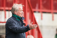 Dermot Drummy Manager of Crawley Town during the Sky Bet League 2 match between Crawley Town and Luton Town at the Broadfield/Checkatrade.com Stadium, Crawley, England on 17 September 2016. Photo by Edward Thomas / PRiME Media Images.