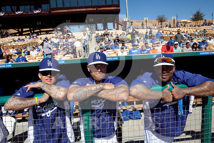 Los Angeles Dodgers,during Cactus League ,Cubs vs Dodgers. Spring Trainig 2013..Camelback Ranch  in Arizona. February 25, 2013 ...© stringer/NortePhoto