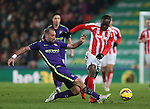 Pablo Zabaleta of Manchester City tackles Victor Moses of Stoke City - Barclays Premier League - Stoke City vs Manchester City - Britannia Stadium - Stoke on Trent - England - 11th February 2015 - Picture Simon Bellis/Sportimage