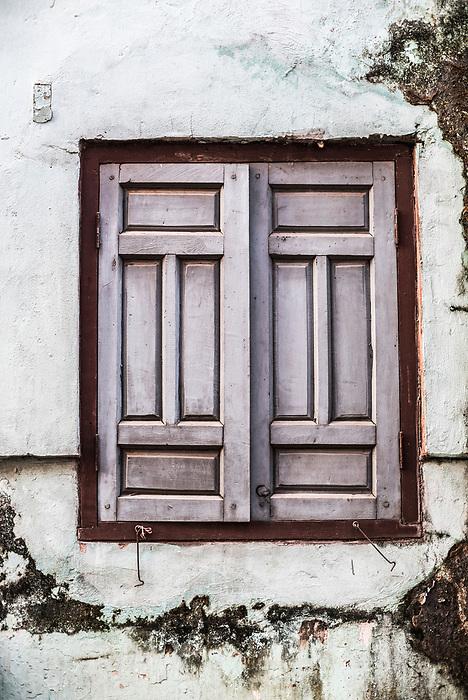 Rustic house details in Hpa An, Karen State (Kayin State), Myanmar (Burma)