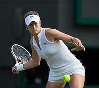 ALISON RISKE (USA)<br /> <br /> The Championships Wimbledon 2014 - The All England Lawn Tennis Club -  London - UK -  ATP - ITF - WTA-2014  - Grand Slam - Great Britain -  28th June 2014. <br /> <br /> &copy; Tennis Photo Network