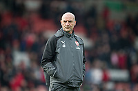 Arsenal assistant manager Steve Bould during the Premier League match between Bournemouth and Arsenal at the Goldsands Stadium, Bournemouth, England on 14 January 2018. Photo by Andy Rowland.