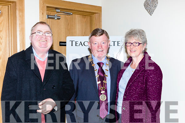 Lawrence Kelly, John Crowley Mayor and Joan Murphy at the concert in Teach Failte during the Eamon Kelly festival in Gneeveguilla on  Saturday night