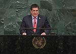 72 General Debate &ndash; 20 September <br /> <br /> <br /> His Excellency Horacio Manuel Cartes Jara, President of the Republic of Paraguay