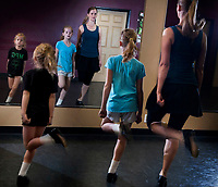 Erin McGever gets her workouts learning and practicing Irish Dance with her daughters Molly, 7, and Lilly, 9, and by taking adult classes each week at a northeast Phoenix studio.
