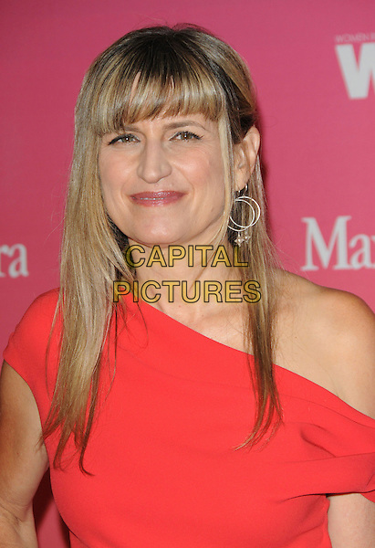 CATHERINE HARDWICKE .at The Women in Film 2009 Crystal .and Lucy Awards held at The Hyatt Regency Century Plaza in Century City, California, USA, June 12th 2009                                                                     .portrait headshot fringe red one shoulder  ear earring silver hoop .CAP/DVS.©DVS/RockinExposures/Capital Pictures