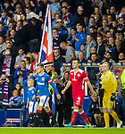 Rangers captain Andy Halliday leads out his team