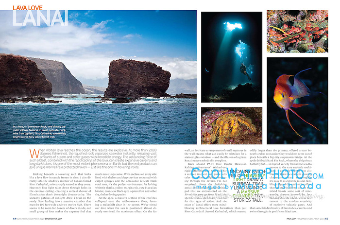 PADI Sport Diver Magazine, November/December 2010, Maui Feature - Assignment, USA