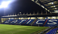 A general view of Boundary Park, home of Oldham Athletic FC<br /> <br /> Photographer Andrew Vaughan/CameraSport<br /> <br /> The EFL Sky Bet League Two - Oldham Athletic v Lincoln City - Tuesday 27th November 2018 - Boundary Park - Oldham<br /> <br /> World Copyright © 2018 CameraSport. All rights reserved. 43 Linden Ave. Countesthorpe. Leicester. England. LE8 5PG - Tel: +44 (0) 116 277 4147 - admin@camerasport.com - www.camerasport.com