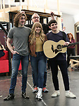 """Rick Elice with Erika Olson, Conor Ryan and Jonny Amies during the Sneak Peak presentation of the World Premiere production of """"My Very Own British Invasion"""" on January 16, 2019 at the Church of Saint Paul The Apostle in New York City."""