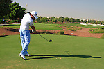 Gareth Maybin tees off on the 1st tee during Day 1 of the Dubai World Championship, Earth Course, Jumeirah Golf Estates, Dubai, 25th November 2010..(Picture Eoin Clarke/www.golffile.ie)