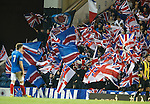 Andy Little looks towards a sea of Union Flags