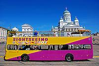 Ônibus de transporte turistico em Helsinki. Finlândia. 2007. Foto de Vinicius Romanini.
