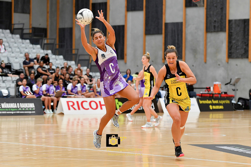 Stars&rsquo; Temepara Bailey in action during the Netball Pre Season Tournament - Pulse v Stars at Ngā Purapura, Otaki, New Zealand on Saturday 9 February  2019. <br />