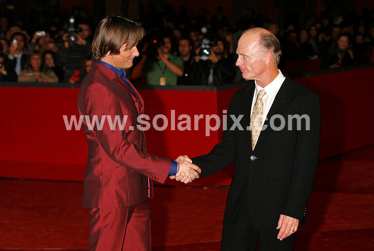 **ALL ROUND PICTURES FROM SOLARPIX.COM**.**SYNDICATION RIGHTS FOR UK AND SPAIN ONLY**.attending the 'Appaloosa' premiere during the 3rd Rome Film Festival. Rome, Italy. 26th October 2008..This pic: Viggo Mortensen and Ed Harris..JOB REF: 7713 CPR (Heinz)    DATE: 25_10_2008.**MUST CREDIT SOLARPIX.COM OR DOUBLE FEE WILL BE CHARGED* *UNDER NO CIRCUMSTANCES IS THIS IMAGE TO BE REPRODUCED FOR ANY ONLINE EDITION WITHOUT PRIOR PERMISSION*