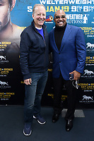 LOS ANGELES, CA - JANUARY 9: Jim Gray and Leonard Ellerbe at the Manny Pacquiao and Adrien Broner Los Angeles Media Day at the Wild Card Boxing Club in Los Angeles, California on January 9, 2019. <br /> CAP/MPI/DAM<br /> &copy;DAM/MPI/Capital Pictures