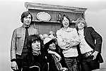 Rolling Stones 1968 Charlie Watts, Bill Wyman, Keith Richards, Mick Jagger and Brian Jones..