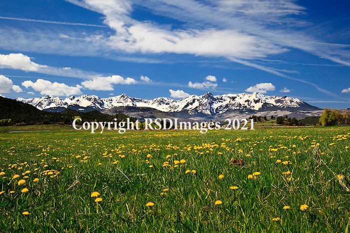 Scenic view from Route 62 outside of Ridgway, CO.