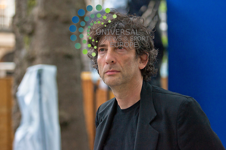 Author, Neil Gaiman, at the Edinburgh International Book Festival 2012, Charlotte Square Gardens on Monday, August 13, 2012.  ..Picture: Malcolm McCurrach - Universal News and Sport (Europe) - 13/08/2012
