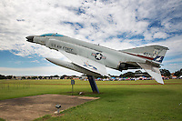 F4 Phantom Fighter Jet on display at Camp Mabry, part of the Texas Military Forces Museum in Austin, Texas - Stock Image.