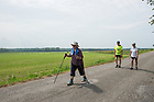 August 16, 2017; Day 3 of ND Trail. The pilgrims biked 23.2 miles and walked 7.8 from Pimento to Bridgeton. As part of the University's 175th anniversary celebration, the Notre Dame Trail will commemorate Father Sorin and the Holy Cross Brothers' journey. A small group of pilgrims will make the entire 300+ mile journey from Vincennes to Notre Dame over  two weeks.(Photo by Barbara Johnston/University of Notre Dame)