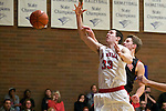 La Salle Prep's Thomas Callahan (33) is fouled against Gladstone guard Ryan Fowler (23) in the first half at La Salle High School.<br /> Photo by Jaime Valdez