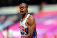 James Dasaolu of Great Britain after competing in the menís 100 metres during the Muller Anniversary Games at The London Stadium on 9th July 2017